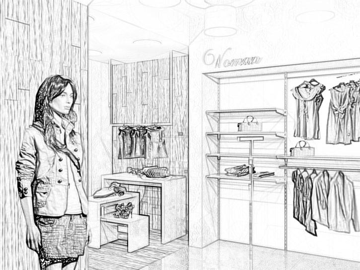 Soluzioni d 39 arredo negozi pelletteria for Arreda negozi shop