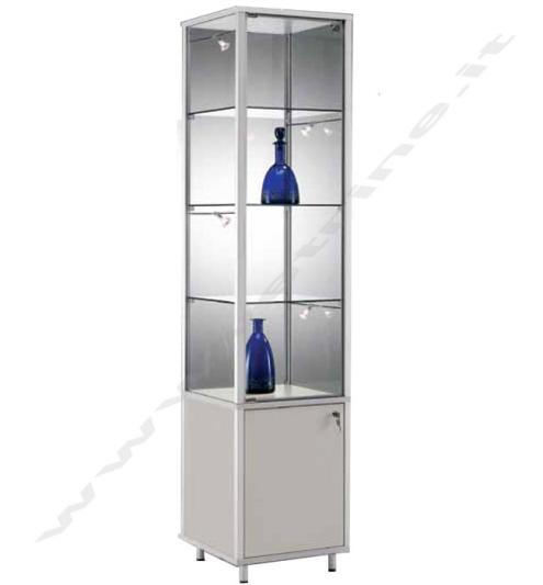 Vetrina con profilo in alluminio piani reg con mobile for Piani di costruzione del negozio con alloggi
