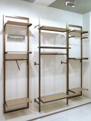 arredamento modulare per negozi collezione suspance