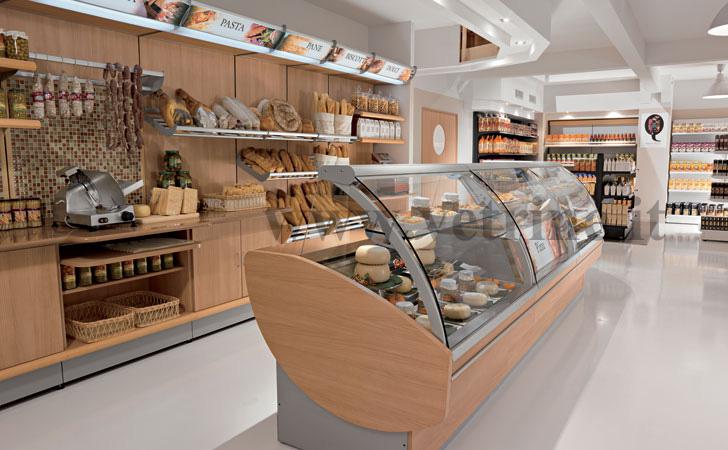 Scaffalature e progettazione supermercati roma arredo for Arredo salumeria