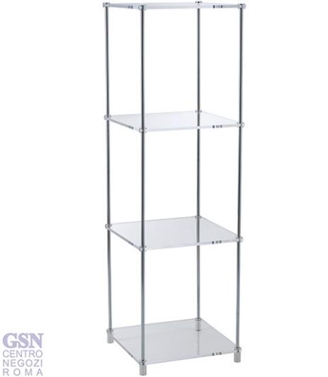 Arredamento display 4 piani in plex iim 9702 roma for Arredamento in plexiglass