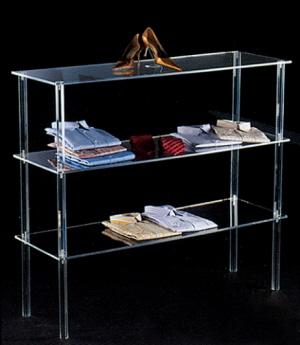 Mobile per arredamento negozi in plexiglass ermob1 vendita for Negozi arredamento roma centro
