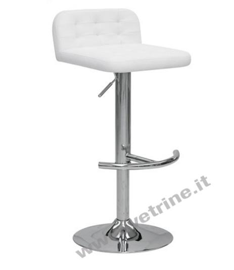 Sgabello bs03 bianco sgabelli per negozi roma for Sgabelli per negozi